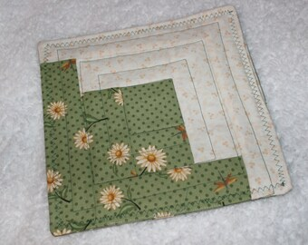 Quilted Trivet Candle Mat Hot Mat Table protector