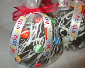 Birthday Chocolate Caramel Candy Apples - You Get 3