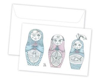 Babushka Pirates // Greeting Card