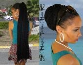 "DREADLOCKS black extra long DREAD FALL 36""/ 90 cm Tribal Fusion belly dance dreads braid hair extension Afro dreadlocks bun Boho hippie hair"