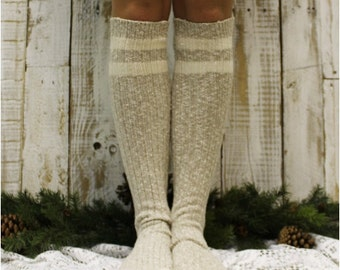 lace boot sock tall knit  -FREE SPIRIT -eco friendly- cozy recycled yarn-knee sock  womens, , black friday, cyber monday BKS1204