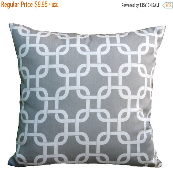 SALE Toss Pillows- Premier Prints Storm Grey Gotcha Pillow Cover- All Sizes- Zippered Pillow- Chainlink Cushion Cover- Accent Throw Pillows