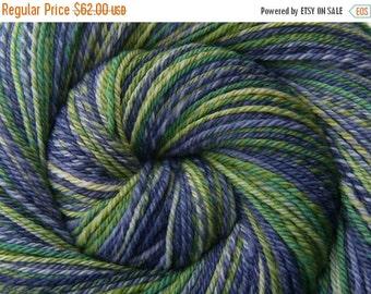 Handspun Yarn, 3 ply - STOLEN MOMENTS - Handpainted Superfine 19μ Merino wool, Fingering weight, 400 yards