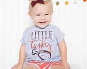 Big Turkey Shirt Little Turkey Shirt / thanksgiving, sibling shirts, family photos, pregnancy announcement ,gender reveal