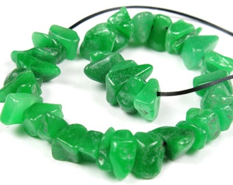 "SALE - was 6.50 - Australian Chrysoprase Mini Chips - 14cm (5.5"") Strand Length - B4325"