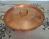 Vintage French Cookware Copper Cookware Covered Pan Saute Pan Revere Ware French Centura Baumen Covered Pan Vintage