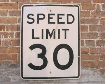 Speed Limit Sign 30th Birthday Party Celebration 30 Anniversary Decoration Gift 30 MPH metal street sign Restaurant Bar lawn fence kids room