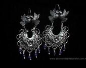 Filigree kissing doves earrings