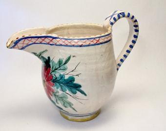 ICS Era Studio Art Pottery Production Pitcher Made Italy Perfect Condition Handthrown Italian Ceramics Gambone Fantoni