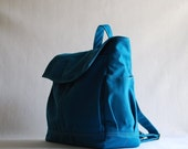 NEW YEAR SALE 30% - Hugo Unisex Backpack in Teal (Water Resistant)  Laptop / Diaper Bag/ Satchel / Rucksack / Messenger Bag / Tote / Market