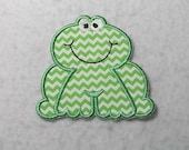 Frog - MADE to ORDER - Choose COLOR and Size - Tutu & Shirt Supplies - fabric Iron on Applique Patch z 7441