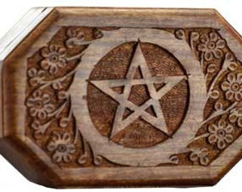 Wooden Pentagram Altar Box