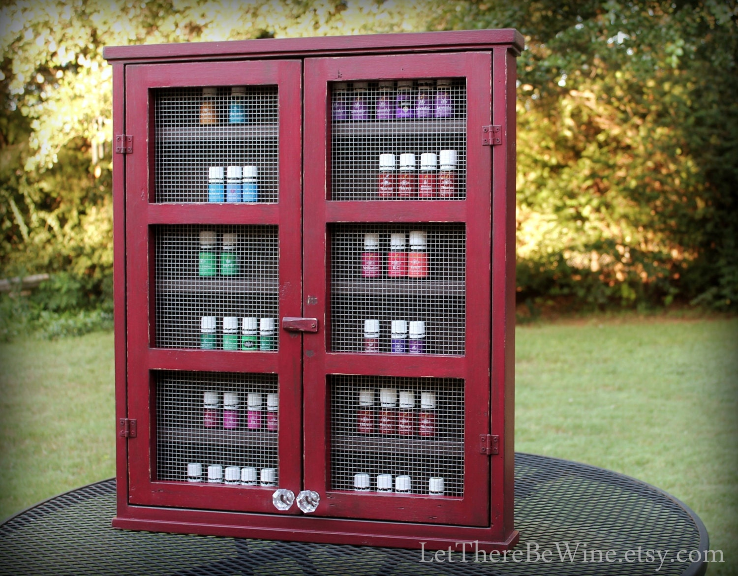 Essential Oil Storage Shelving Nail Polish Cabinet Or