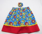 Skirt made with Curious George Fabric -Curious George Birthday Party - Sizes Infants Toddlers Girls Adult - Photo Prop