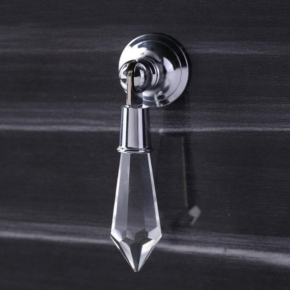 Glass Crystal Knobs Silver Drop Cabinet Knob Dresser Knobs