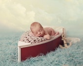 Wooden Boat Photo Prop For Newborn, Boat Photography Prop, Red And White Boat, Nautical Prop