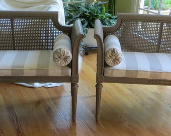 Caned  Back and Side Settee (One) - Totally Refurbished