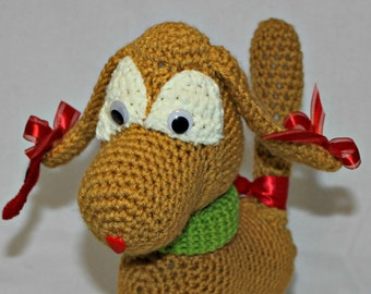 Plush Toy, Stuffed Animal, Puppy, Hand Crocheted, Childs Toy, Puppy Dog, Stuffed Dog