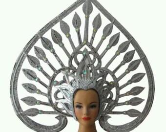 Vegas Showgirl Pageant Asian Halo God Goddess  Thai Headdress