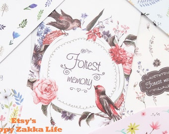 Forest Memory - Paper Envelope Set - 7 sheets in Different Prints