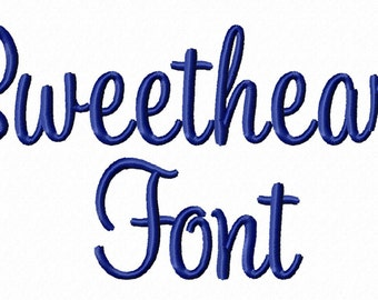"Sweetheart Machine Embroidery Font Alphabet -  1 1/2"" Inch Size ONLY"