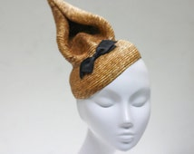 Honey Cone w/ Dinky Bow - Millinery Spectacle - Harlie