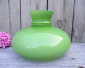 """Tam O Shanter Lamp Shade Parlor Student Vianne French Glass - Replacement - GREEN & Milk Glass Globe - 7"""" fitter"""