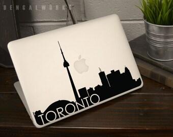 Toronto Skyline Macbook Decal 3 | Macbook Sticker | Laptop Decal | Laptop Sticker | Car Sticker