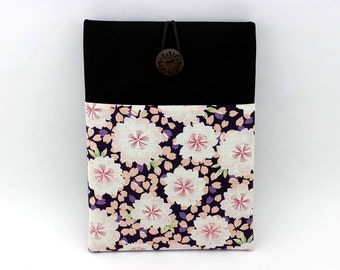 Kimono iPad Air Sleeve, Gift For Her, Padded Tablet Covers, Chery Blossoms Purple