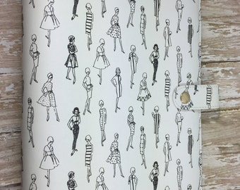 Clearance Price!!  Retro Ladies Print A5 Planner Binder, exclusive design