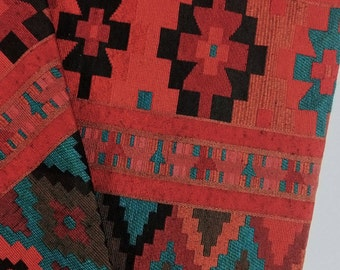 Thai Woven Cotton Fabric Tribal Fabric Native Fabric by the yard Ethnic fabric Aztec fabric Craft Supplies Woven Textile 1/2 yard (WFF25)