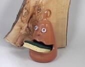 Sponge holder Crazy sponge eater glazed terracotta italian pottery