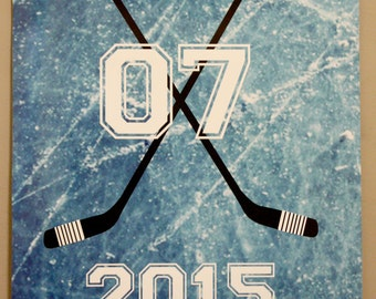 Hockey, Sports Theme, Birthday Party Door Decor Sign Poster Digital File ONLY