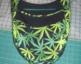 """India Hobo / Sling Bag, Reversible ,Cross Body, Alexander Henry """"Herb"""" and """"Elevated"""" Fabric, Swoon Patterns, Dead Head"""