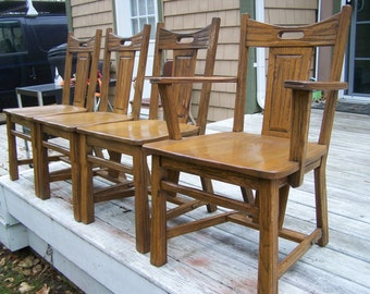 dining chairs,set of four dining chairs,kitchen chairs,oak chairs,mid century modern chairs