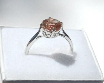 Oregon Sunstone  Ring, Orange , Red  !!    # 101