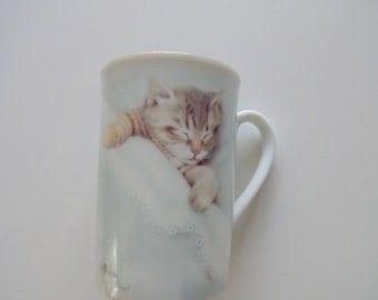 Vintage Otagiri Kitten Coffee Mug 1980s