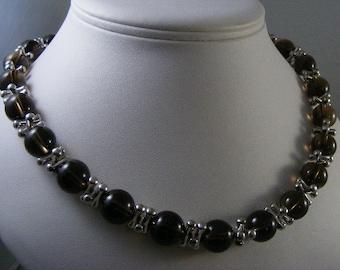 Smokey Quartz Bead Necklace..... Lot 4461