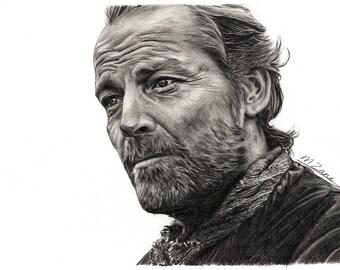 A4 Art Print Iain Glen / Jorah Mormont