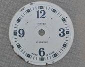 Vintage Soviet alarm clock face,dial.