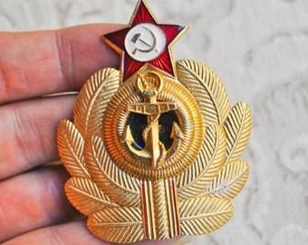 Vintage Soviet Russian NAVY cockade,badge.