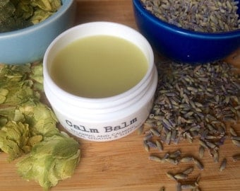 Calm Balm (Calming, Natural Sedative and Sleep Aid, Organic Balm) 1/2 oz.