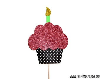 Cupcake Photo Prop ~ Photo Booth Props ~ GLITTER Photobooth Prop