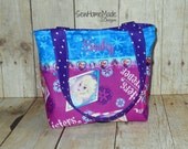 Frozen Mini Tote - Girls Mini Tote - Personalized Mini Tote - Child's Handbag