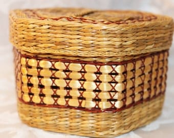 Vintage Chinese Basket - Hand Woven Basket