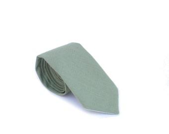 Olive Linen Neck Tie