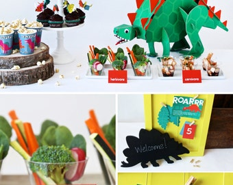 COMBO PACK Dinosaur Party Printables - Instant Download!