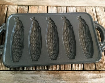 Vintage John Wright Large Cast Iron Corn Mold