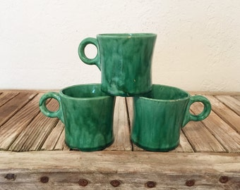 Mid Century Green Coffee Cups