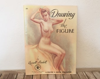 Vintage Art Book Walter T. Foster Art Drawing The Figure
